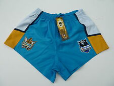 "NRL GOLD COAST TITANS AWAY RUGBY LEAGUE SHORTS ""TELSTRA LOGO"" - BRAND NEW"