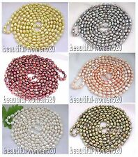 """X0220 beautiful 80"""" 12mm baroque freshwater pearl necklace"""