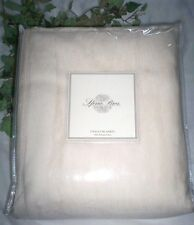 $260 New Premium Sferra Chalet 100% Plush Cotton Blanket Queen or King Ivory