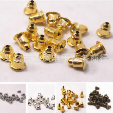 100Pcs Metal Bronze Ear Caps Bullet Gold New Silver Finding Jewelry Accessories