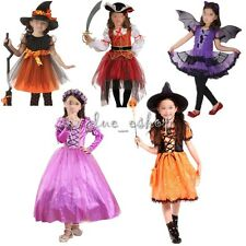 Girls Princess Pirate Fancy Fairy Halloween Costume Outfit Party Dress  Clothes