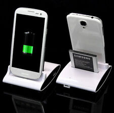 Charger Cradle Battery Dock Station Dual Samsung Galaxy S4 Phone Sync Stand