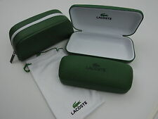 Lacoste Green Eyeglass & Sunglass Cases New! Your Choice!