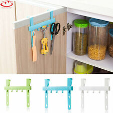 Plastic Kitchen Storage Door Rack Five Hooks Hanging Rack Holders Towel Hangers