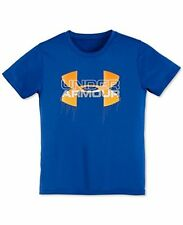 NWT Under Armour Little Boys 4-7 Big Logo Iteration Tee T-Shirt Sz: 4, 5 NWT
