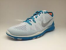 Nike Womens Free 5.0 TR FIT 5 Training Running Shoe White Silver Blue 704674-102