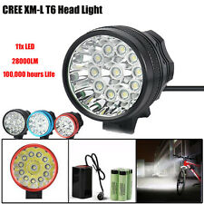 28000LM 11 x CREE XM-L T6 LED 6 x 18650 Bicycle Cycling Light Waterproof Lamp