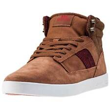 Supra Bandit Mens Trainers Brown Red New Shoes
