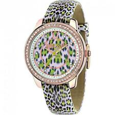 Womens Watch JUST CAVALLI LEOPARD R7251586504 Rose Leather Swarovski Spotted