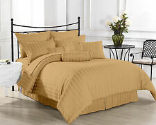 1200 TC Hotel Taupe Stripe Sets100 % Egyptian Cotton All Size By Royal Bedding's