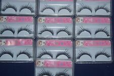 10 X SETS LONG LASH EYELASHES WITH DIAMANTE NEW AND INDIVIDUALLY BOXED SEE PHOTO
