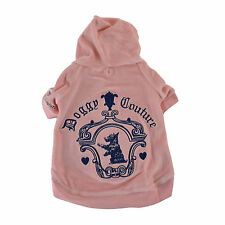 NEW AUTH Juicy Couture Limited Edition Doggy Couture Velour Hoodie Large Pink