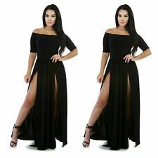 Sexy Women Off Shoulder Bodycon Bandage Cocktail Evening Party Long Maxi Dress