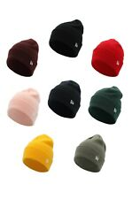 New Era Mens Cuff Essential Beanie Blank Knit Black Gray Blue Red Winter Hat
