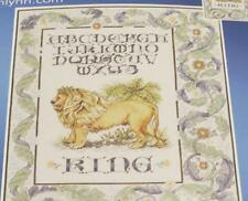 "JANLYNN Counted Cross Stitch Kit ""The King"" Lion Sampler Sealed 12x16 28ct"