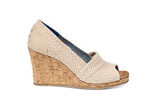 TOMS WOMENS NATURAL WOVEN TRIANGLE CORK CLASSIC WEDGE NEW SLIP-ON SHOES SIZE 6-9