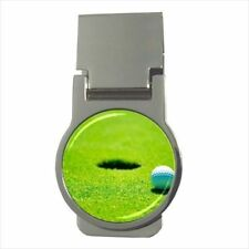 Golf Hole In One Chrome Money Clip