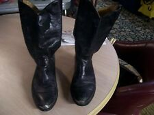 HARLEY-DAVIDSON MEN'S BLACK LEATHER WESTERN BOOTS SIZE 10.5 (PREOWNED)