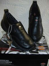 "*NEW DICKIE'S BLK ""MEXAM"" 12M STYLE NURSING/OCCUP. MENS LEATHER~SLIP RESISTANT"