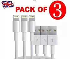 3x USB Sync & Charger Data Lead Cable For Apple iPhone 6 5 5C 5S iPad 4 Air Mini