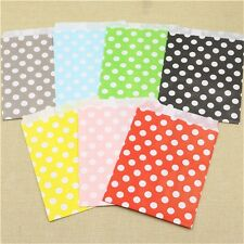 150 x Polka Dot Craft Paper Gift Bags Party Supplies Food Candy Bread Paper Bags