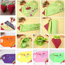 New Shopping Travel Shoulder Bag Pouch Tote Handbag Strawberry Reusable Bags