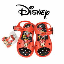 GIRLS RED MINNIE MOUSE SANDALS DISNEY BEACH JELLY SHOES INFANT SIZE 7 - 12