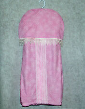 Pink Diaper Stacker For Baby Girl, Lace Nursery, Custom With Name, AGIFT 209