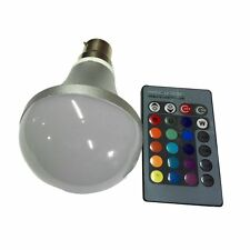 10W E27 AC 85-265V RGB LED Light Bulb Lamp Color Changing+IR Remote Control MC