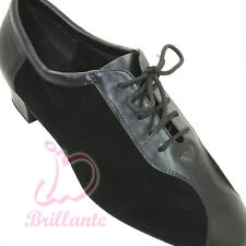 "@@Brillante #ML1 Black Men Latin Ballroom Dance Shoes sz UK9 1.5"" Heel"