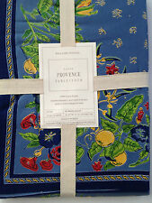 "NEW WILLIAMS SONOMA PROVENCE TABLECLOTH BLUE RED YELLOW 70"" X 90"" or 70"" ROUND"