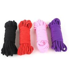"33"" 10 Meter Bondage BDSM Rope Fetish SM Kinky Sex Adult Game Toy Soft Cotton"