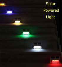 6 Color LED Solar Power Path Light Fence Wall Landscape Lamp Outdoor Garden Yard