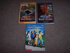 VINTAGE Kids Book Bundle - The Mystery of Wolf River + 2 More! Apple Paperbacks