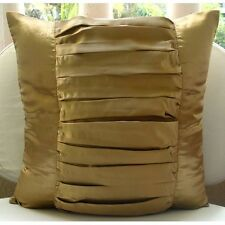 Textured Gold Satin 30x30 cm Decorative Cushion Covers - Gold Beauty