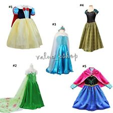 2016 Halloween Girl Princess Of Snow white Fancy Dress Costume Child Kids Outfit