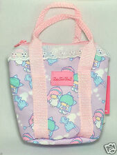 SANRIO Little Twin Stars Kiki Lala Mini Tote Bag Purple Pouch Case  Japan Only