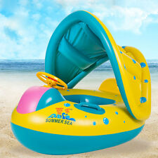 Baby Infant Child Float Seat Boat Swim Ring Swimming Pool Inflatable Yellow