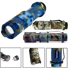 2000 Lumen Zoomable CREE Q5 LED 3 Modes Flashlight Torch Zoom Lamp Outdoor Light