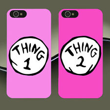 New CUTE Couple Phone Case ,Thing 1 & 2 Best Friend Cover for iPhone & Samsung