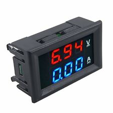 New DC 100V 10A Voltmeter Ammeter Blue+Red LED Dual Volt Amp Meter Gauge TOP~