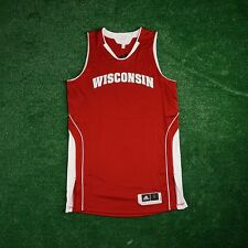 Wisconsin Badgers ADIDAS NCAA Authentic Game Issued Pro Cut Away Red Men's