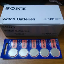 100X Sony CR2032 2025 2016 1616 1620 1632 Button Coin Cell watch Battery
