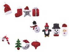Festive Christmas 3D Tinsel Decorations (3 Different Sets) Hanging Decorations