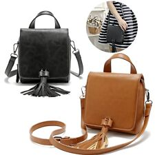 Fashion Women Leather Handbag Tote Satchel Shoulder Messenger Tassel Bag