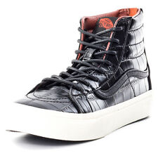 Vans Sk8 Hi Slim Zip Croc Lea Black Mens Trainers Black New Shoes