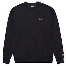 "The Hundreds x Champion ""Rich Logo"" Crewneck (Black) Men's Script Sweatshirt"