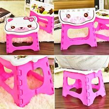 NEW Infant Baby Foldable Folding Step Stool Chair Kids Store Flat Outdoor AU