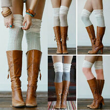 Sexy Women Girls Knit Crochet Over Knee Thigh High Stockings Boot Socks Fashion