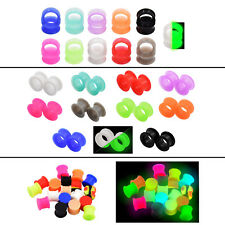 31 PAIRS SILICONE FLESH TUNNELS+SADDLE EAR PLUGS STRETCHING-GAUGE KITS-62 PIECES